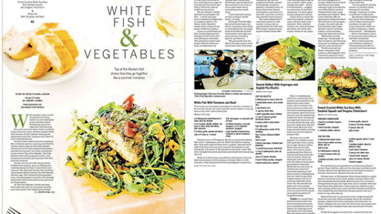Front Page Food Section